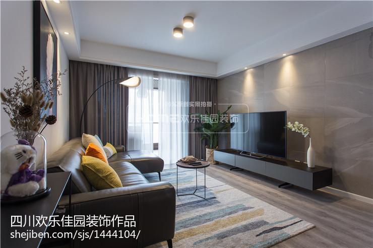 热门102平方三居客厅现代装修实景图片欣赏