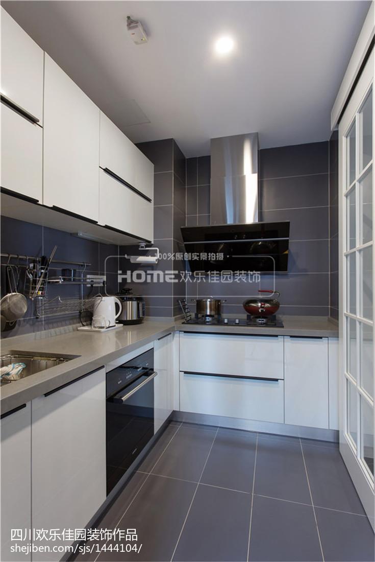 精选面积101平现代三居厨房装饰图片大全