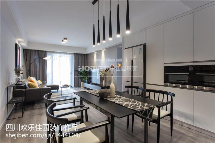 2018精选107平米三居餐厅现代装修图片大全