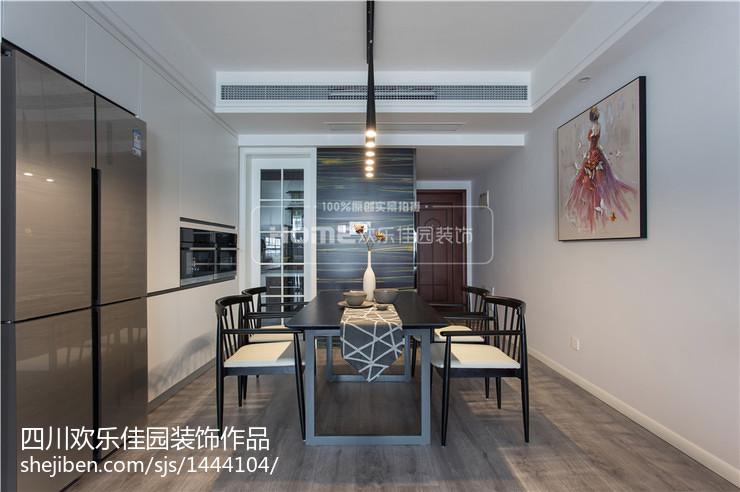 精选92平米三居餐厅现代装修图片