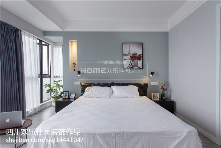 精美109平米三居卧室现代装修效果图片