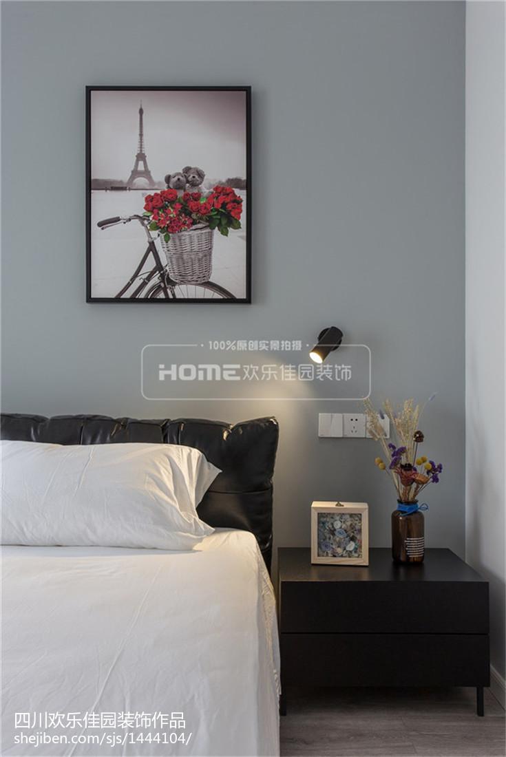 精美102平米三居卧室现代装修欣赏图片大全