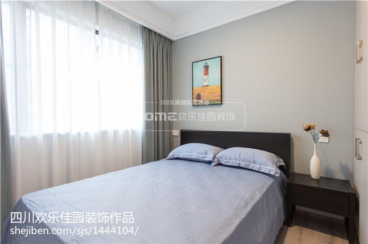 精美94平方三居卧室现代装饰图