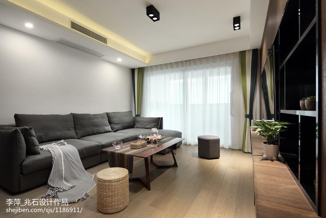 精美106平米三居客厅北欧装修图片欣赏