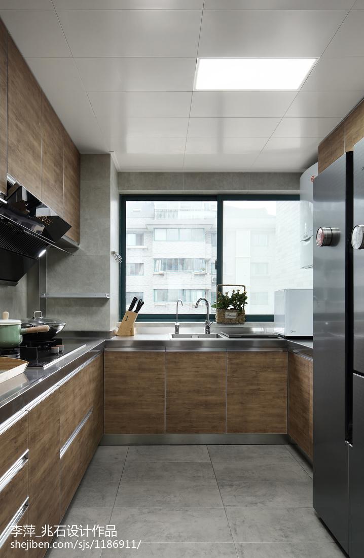 三居厨房北欧实景图