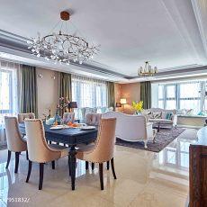 热门面积117平美式四居餐厅装修效果图片欣赏
