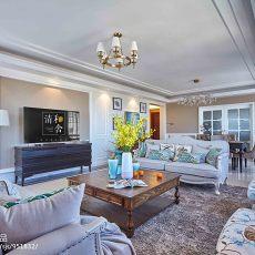 2018精选面积143平美式四居客厅装饰图片欣赏