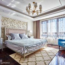 精美122平方四居卧室美式效果图片