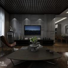 美式风格三房一厅装修地板砖效果图