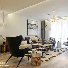 2018精选大小130平现代四居客厅装修图