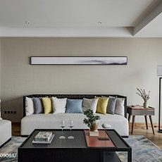 热门面积98平现代三居客厅实景图片