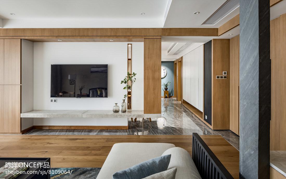 清新现代三居背景墙设计效果图