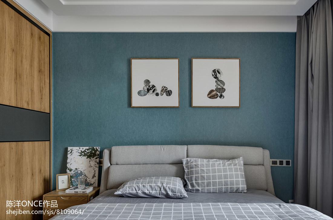 热门101平米三居卧室现代装修实景图片