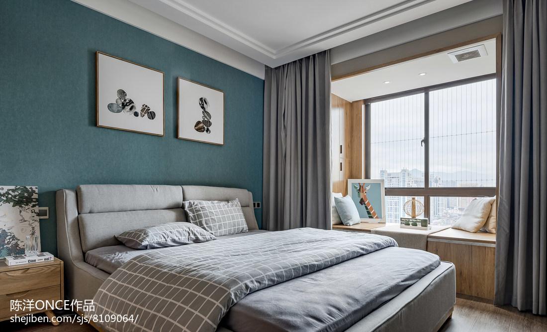 清新现代三居卧室设计图