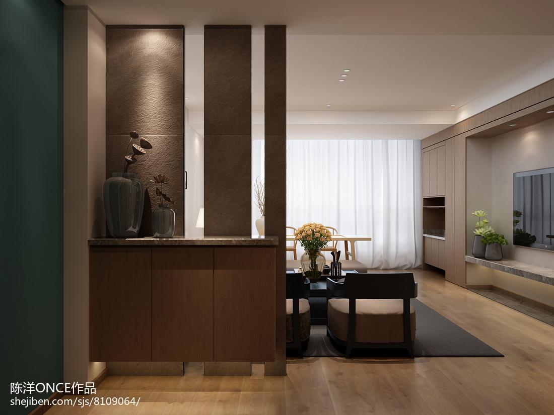 清新现代三居玄关设计图
