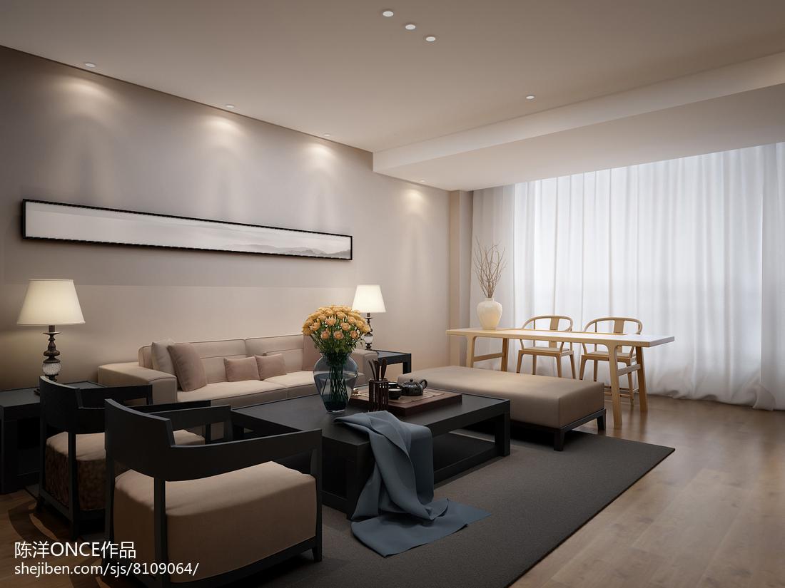 热门101平米三居客厅现代装饰图片大全
