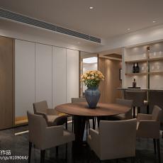 面积96平现代三居餐厅装饰图