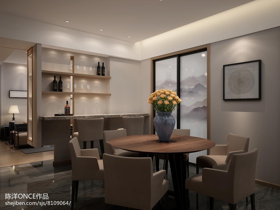 精选91平米三居餐厅现代效果图片大全