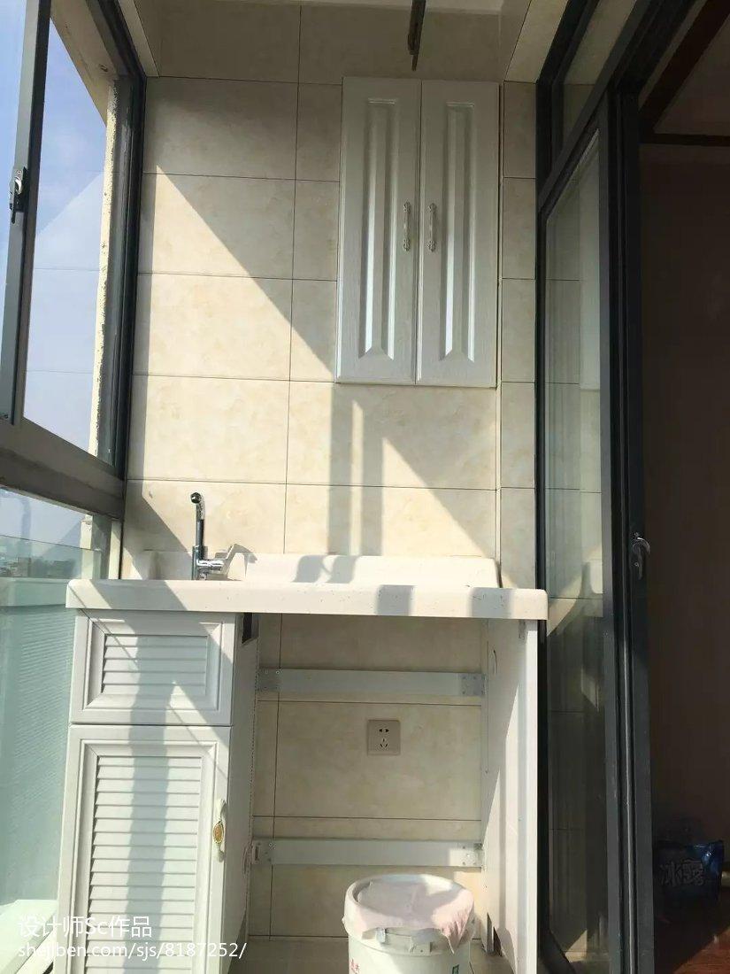 92平米三居阳台现代效果图片欣赏