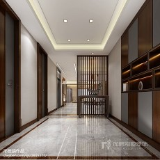 2018别墅玄关中式装饰图片大全
