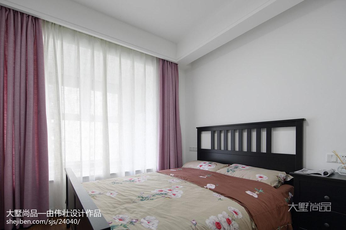 热门95平方三居卧室北欧装修欣赏图片