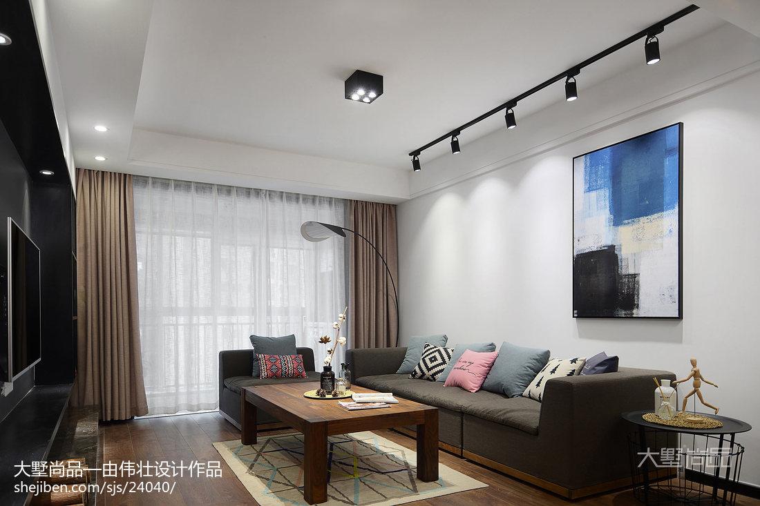 2018面积101平北欧三居客厅装修设计效果图片