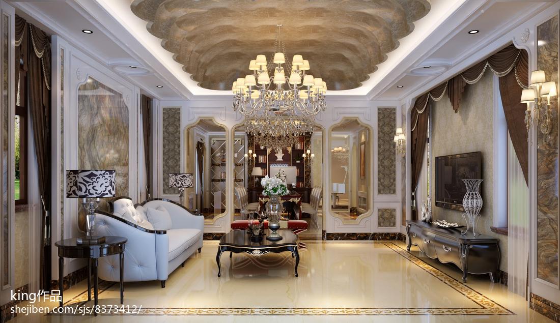 欧式风格家装别墅古典装修效果图大全