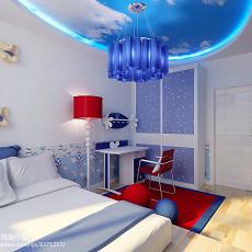 面积74平简约二居儿童房装修效果图片欣赏