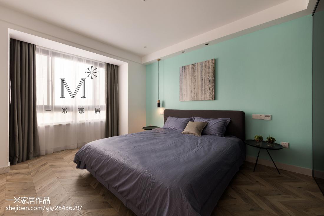 精选97平方三居卧室现代装修实景图