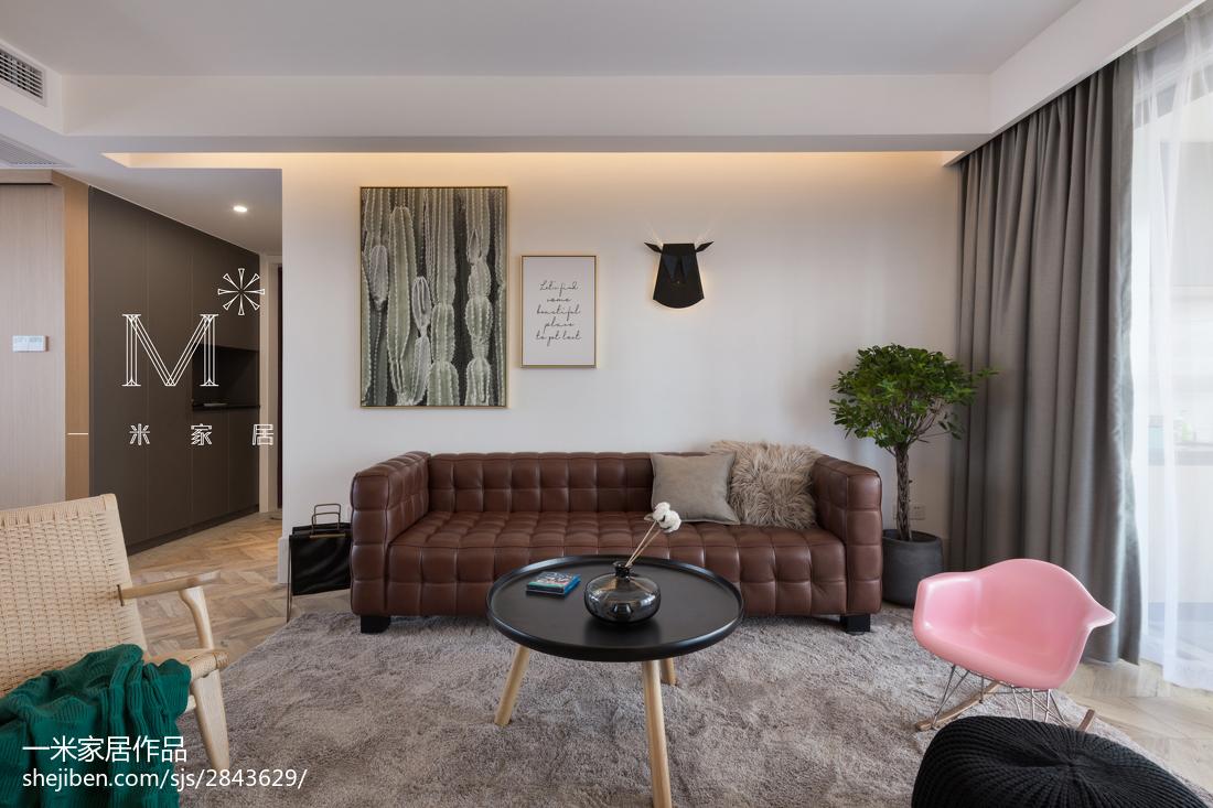 精选108平米三居客厅现代效果图片欣赏
