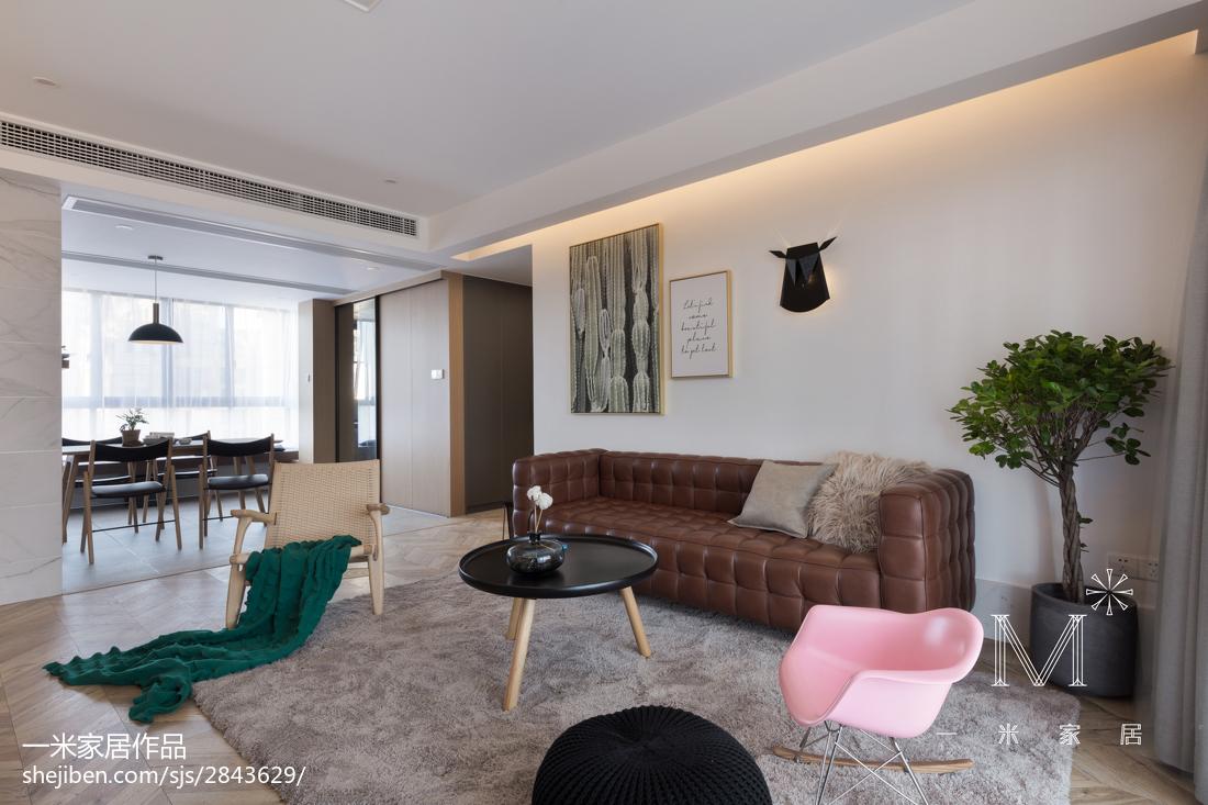 大气94平现代三居客厅美图