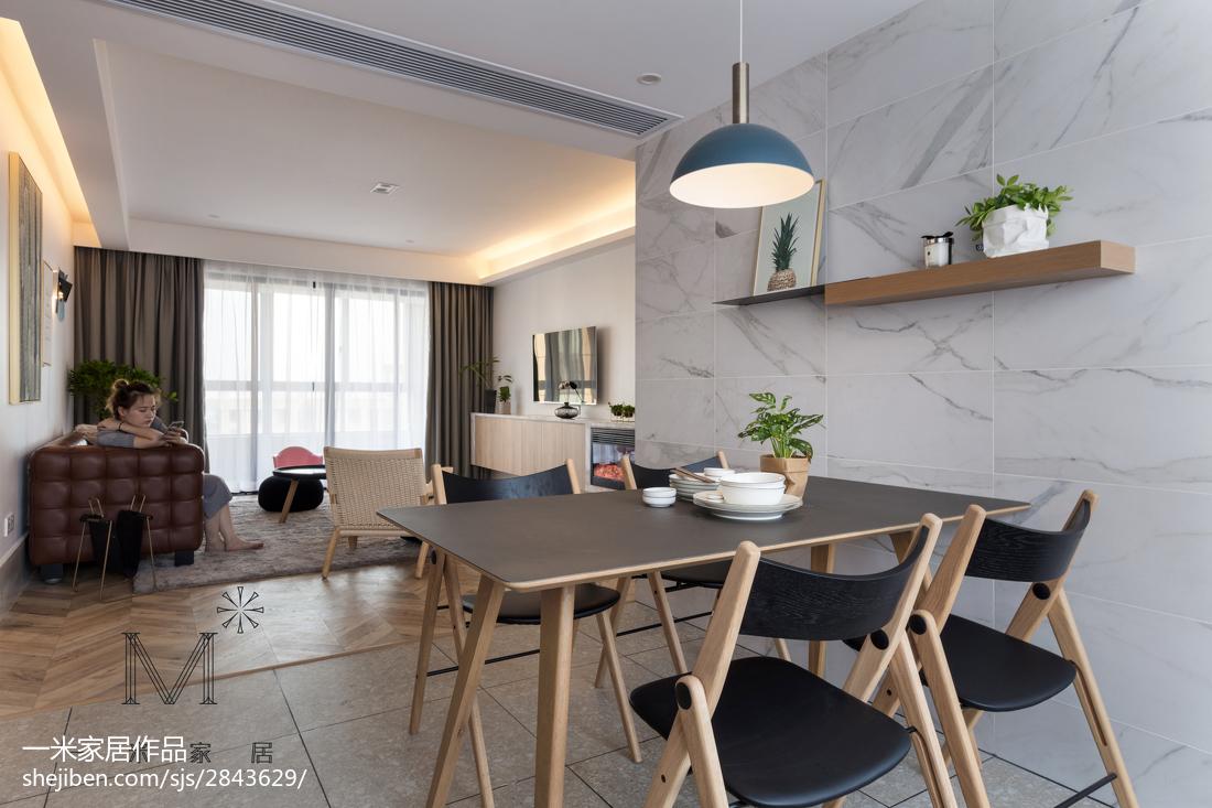 精美面积109平现代三居餐厅实景图片