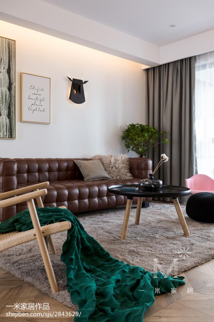 轻奢77平现代三居客厅装潢图