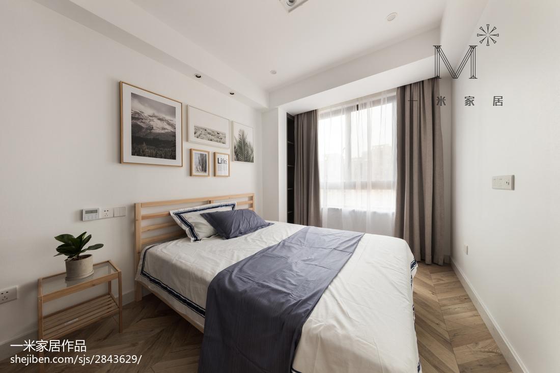 精美82平现代三居卧室实景图