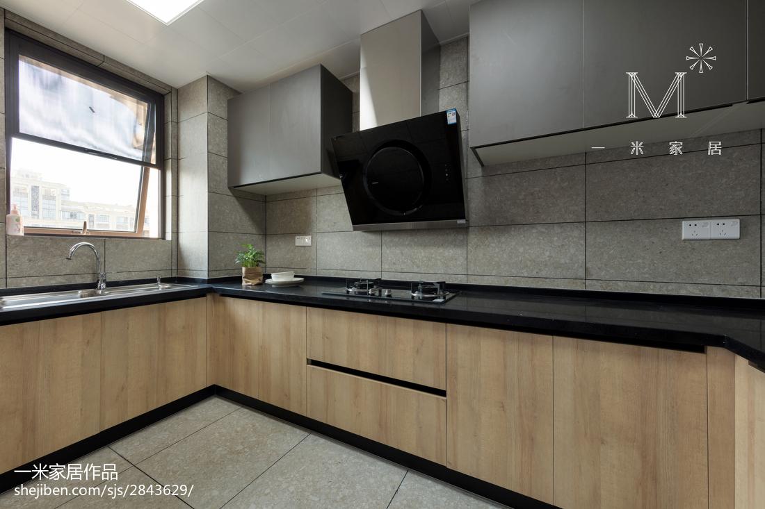 精美102平米三居厨房现代装修欣赏图片