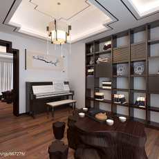 时尚混搭复式楼客厅效果图