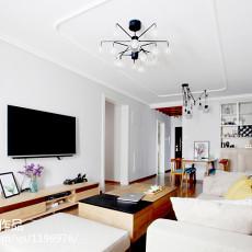 热门面积90平日式二居客厅实景图片大全