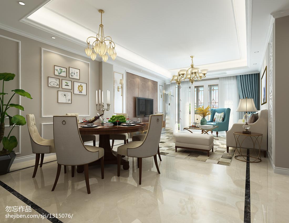 精选127平米美式别墅装修实景图片