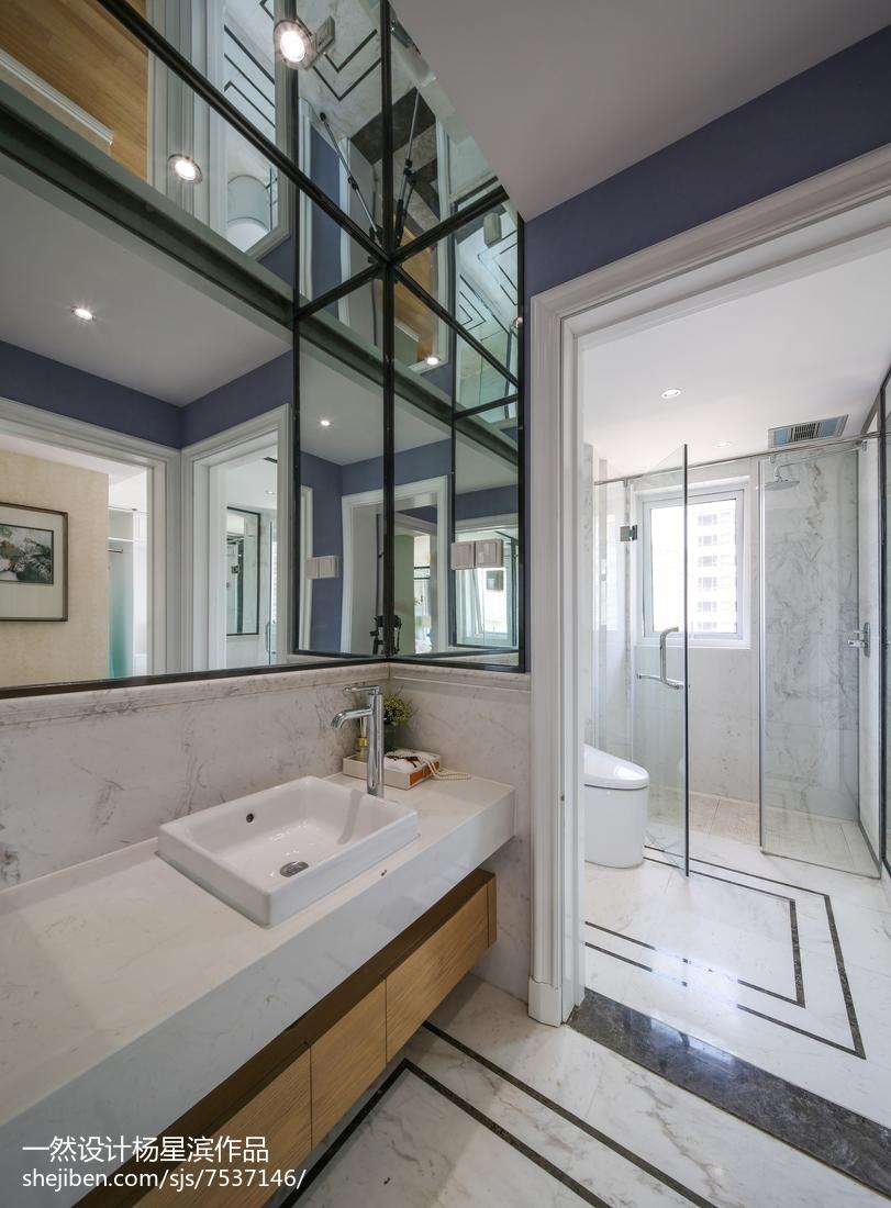 美式样板房卫浴设计图片