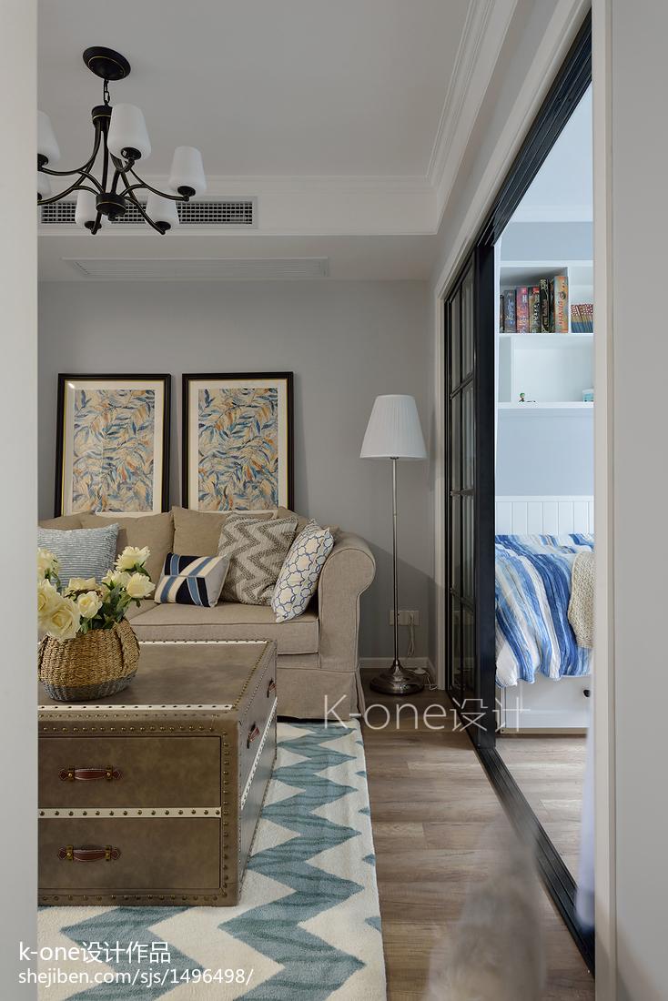 精美面积80平简约二居客厅实景图片大全