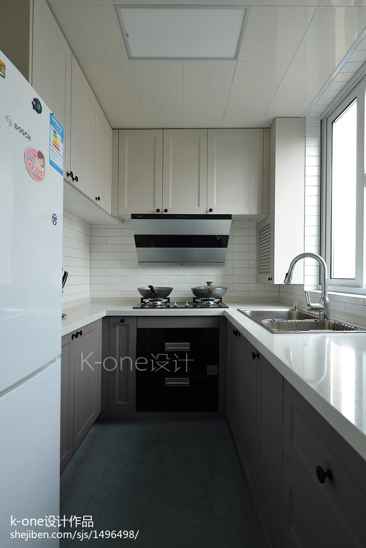 精美面积89平简约二居厨房装修图片