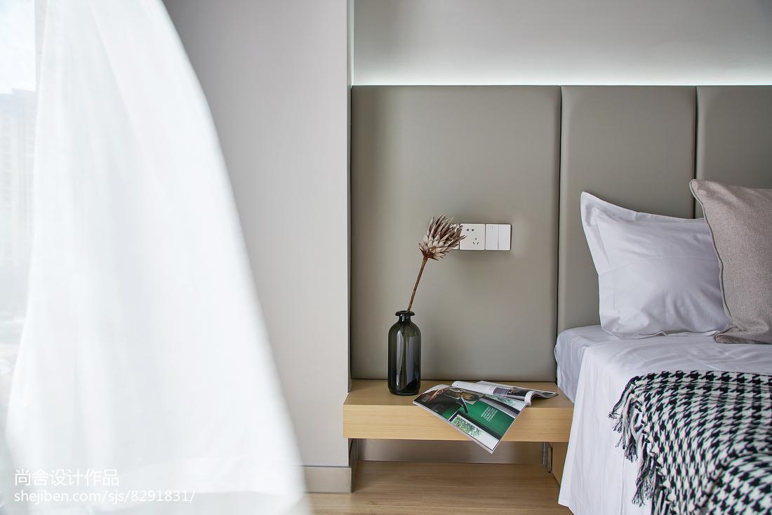 简洁94平简约三居卧室装饰图片