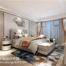 2018130平米中式别墅卧室效果图片欣赏