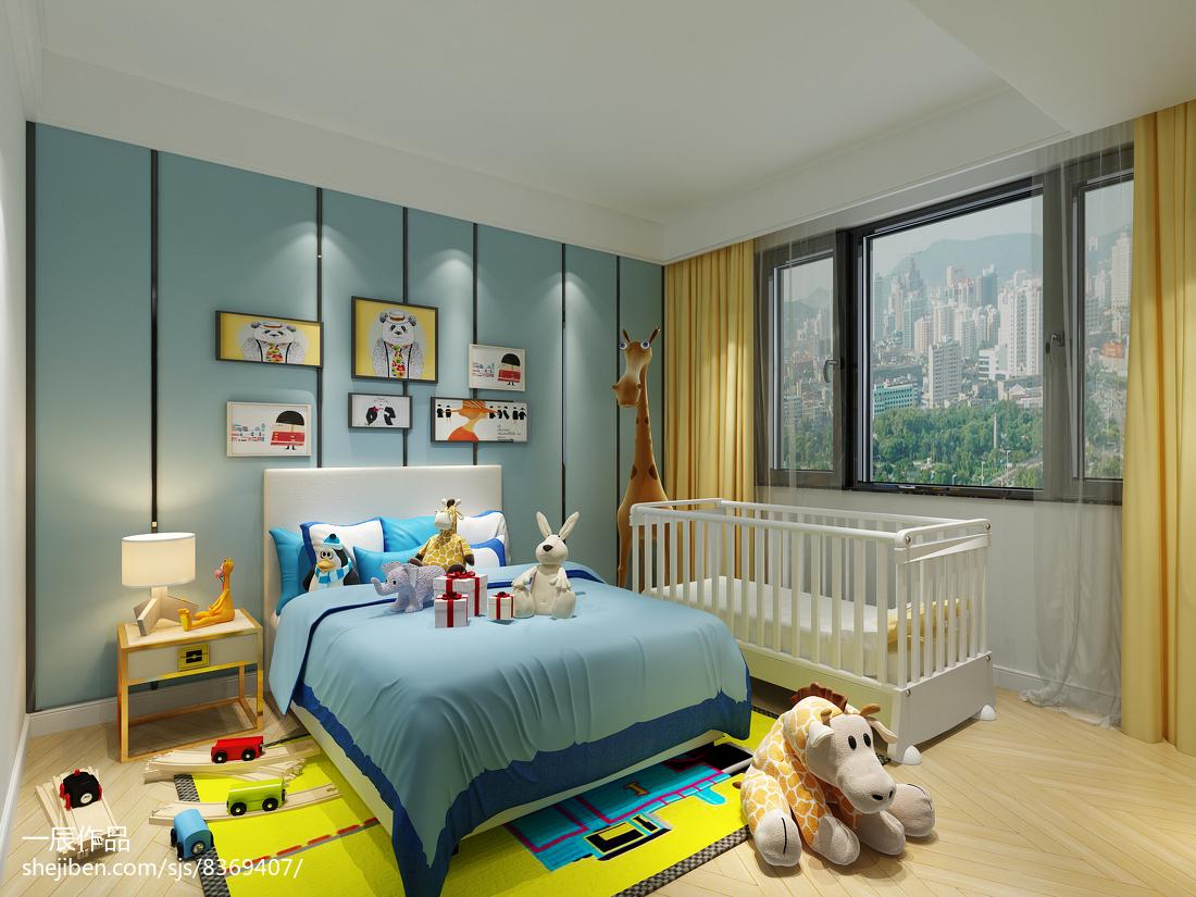 温馨281平现代别墅卧室装修装饰图