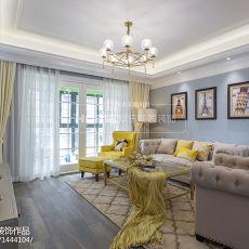 2018精选92平米三居客厅美式装修实景图片