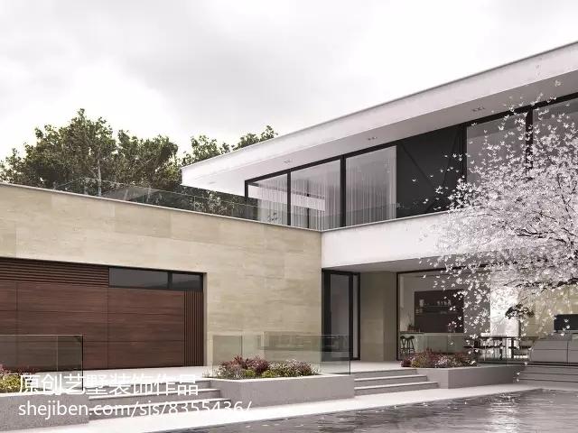 古典美式别墅客厅家具摆放布置效果图