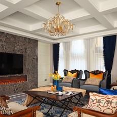 面积139平别墅客厅美式装修图片大全