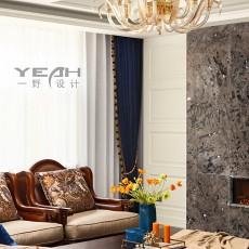 面积135平别墅客厅美式装修图片欣赏