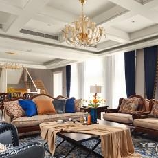 精美别墅客厅美式装修效果图