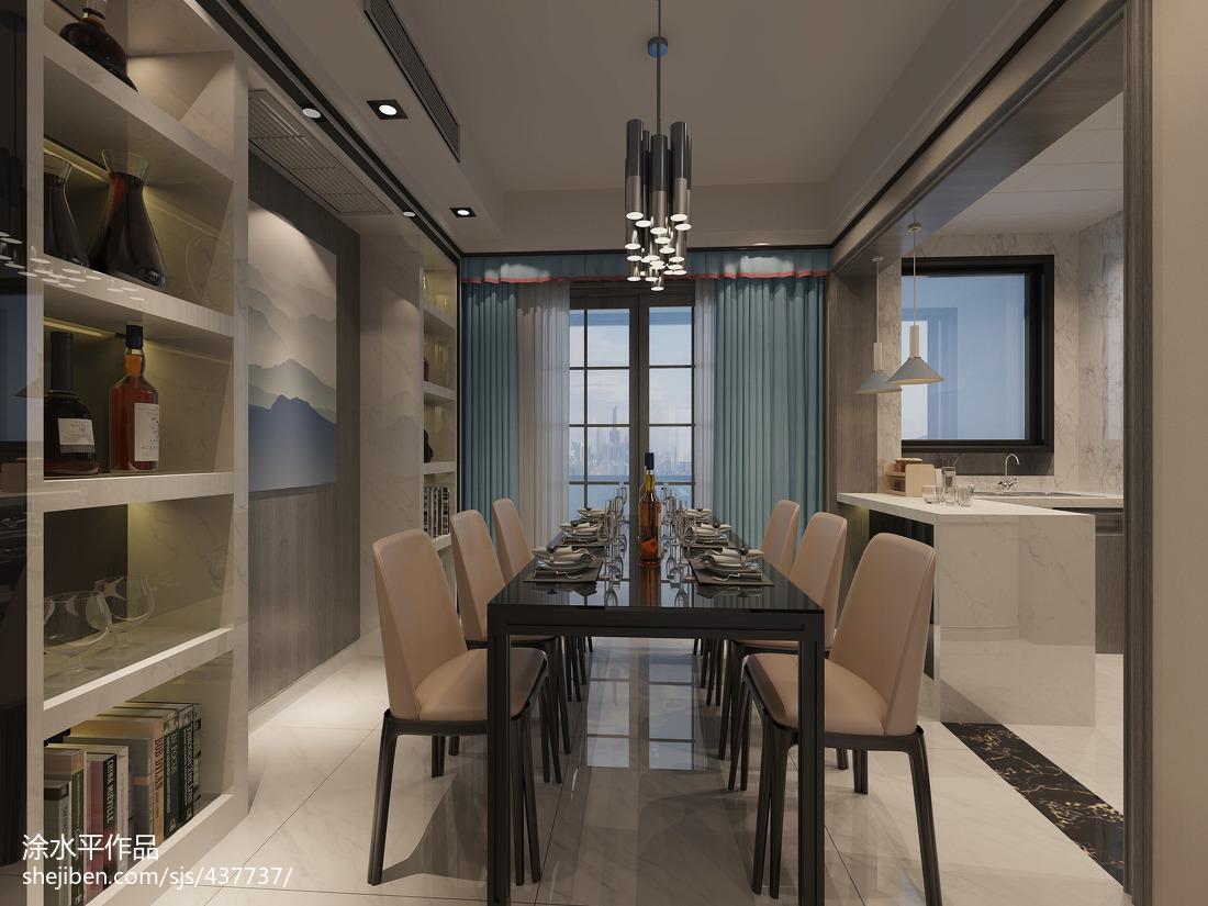 120平米三室两厅现代餐厅装修效果图大全2014图片
